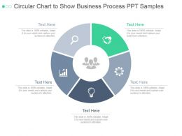 Circular Chart To Show Business Process Ppt Samples