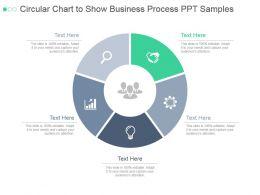Circular Chart To Show Business Process Ppt Samples