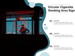 Circular Cigarette Smoking Area Sign