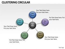 Circular Clustering Diagram
