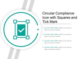 Circular Compliance Icon With Squares And Tick Mark
