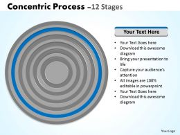 45237159 Style Cluster Concentric 12 Piece Powerpoint Template Diagram Graphic Slide