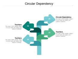 Circular Dependency Ppt Powerpoint Presentation Infographics Topics Cpb
