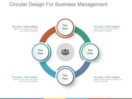 Circular Design For Business Management Ppt Slide Templates