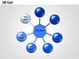 circular diagram 3D List 1