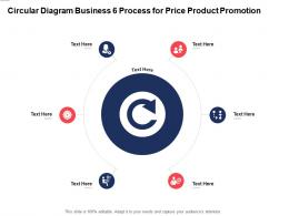 Circular Diagram Business 6 Process For Price Product Promotion Infographic Template