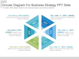 Circular Diagram For Business Strategy Ppt Slide