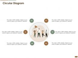 Circular Diagram Pitch Deck Raise Post Ipo Debt Banking Institutions Ppt Slides Graphics Example
