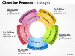 Circular diagram Process 5 Stages 12