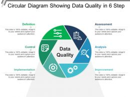 Circular Diagram Showing Data Quality In 6 Step