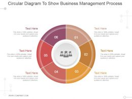 Circular Diagram To Show Business Management Process Powerpoint Slide