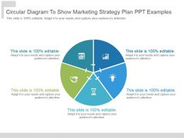 Circular Diagram To Show Marketing Strategy Plan Ppt Examples