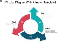 Circular Diagram With 3 Arrows Template1 Ppt Sample