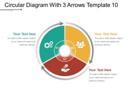 Circular Diagram With 3 Arrows Template 10 Ppt Model