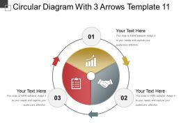 Circular Diagram With 3 Arrows Template 11 Ppt Presentation