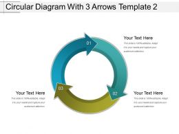 Circular Diagram With 3 Arrows Template 2 Powerpoint Show