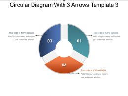 Circular Diagram With 3 Arrows Template 3 Powerpoint Slide