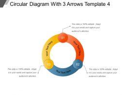 Circular Diagram With 3 Arrows Template 4 Ppt Design