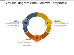 Circular Diagram With 3 Arrows Template 5 PPT Diagrams