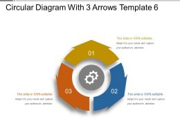 Circular Diagram With 3 Arrows Template 6 Ppt Example