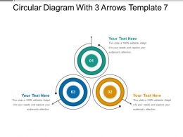Circular Diagram With 3 Arrows Template 7 PPT Icon