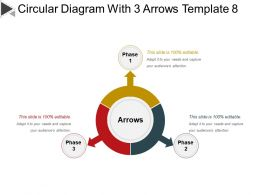 Circular Diagram With 3 Arrows Template 8 Ppt Ideas