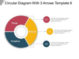 Circular Diagram With 3 Arrows Template 9 Ppt Images