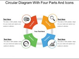 Circular Diagram With Four Parts And Icons