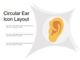Circular Ear Icon Layout