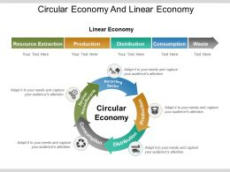 Circular Economy And Linear Economy Presentation Graphics