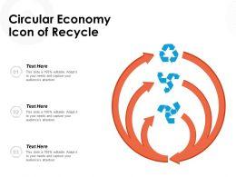 Circular Economy Icon Of Recycle