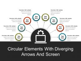 Circular Elements With Diverging Arrows And Screen