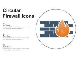 Circular Firewall Icons