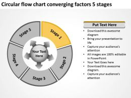 circular_flow_chart_converging_factors_5_stages_arrows_software_powerpoint_slides_Slide03