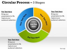 Circular Flow Chart With Hub 3 Stages 15