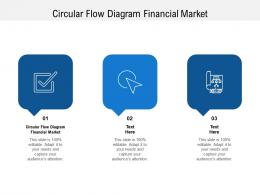 Circular Flow Diagram Financial Market Ppt Powerpoint Presentation Styles Styles Cpb