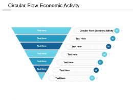 Circular Flow Economic Activity Ppt Powerpoint Presentation Show Files Cpb