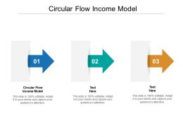 Circular Flow Income Model Ppt Powerpoint Presentation Icon Outline Cpb