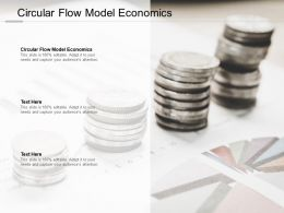 Circular Flow Model Economics Ppt Powerpoint Presentation File Images Cpb