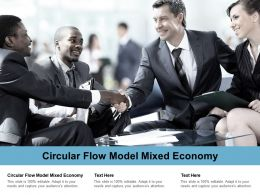 Circular Flow Model Mixed Economy Ppt Powerpoint Presentation Infographics Layouts Cpb