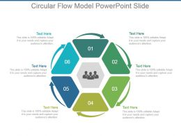 Circular Flow Model Powerpoint Slide