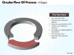 circular flow of process 4 Stages powerpoint diagram templates graphics 712