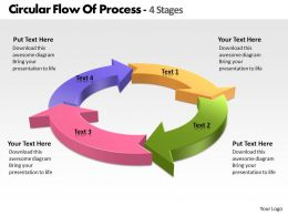 Circular Flow Of Process 4 Stages Free PowerPoint Templates Slides