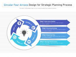 Circular Four Arrows Design For Strategic Planning Process