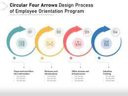 Circular Four Arrows Design Process Of Employee Orientation Program