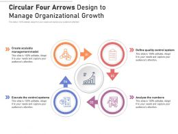 Circular Four Arrows Design To Manage Organizational Growth