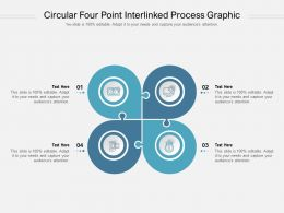 Circular Four Point Interlinked Process Graphic