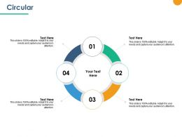Circular Four Process Ppt Powerpoint Presentation Outline Show