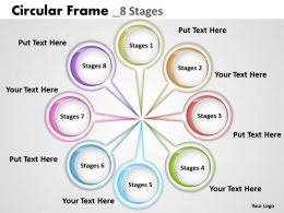 Circular Frame 8 Stages Powerpoint Diagram Templates Graphics 712