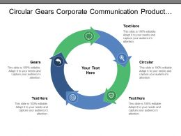 Circular Gears Corporate Communication Product Program Finance Team